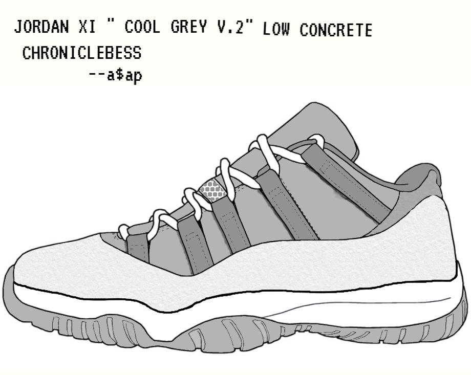 new products 6844a b21f0 ... jordan 12 drawing  jordan xi   cool grey v.2   low ...