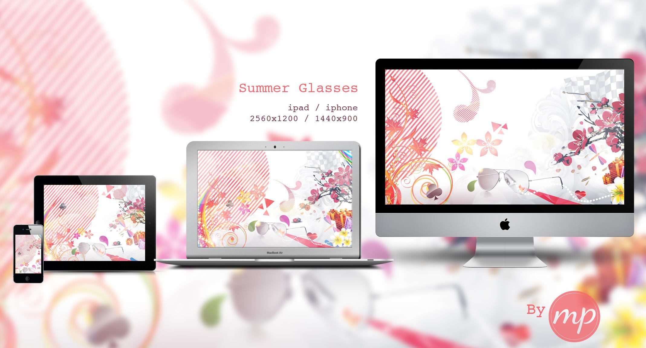 Summer Glasses / Wallpaper by Mademoiselle-Pixelle