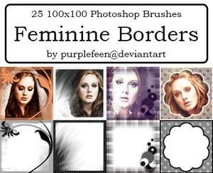 25 100x100 Feminine Borders by purplefeen