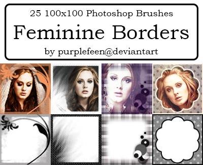 25 100x100 Feminine Borders by purplefeen by purplefeen