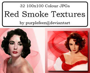 32 100x100 Red Smoke Textures by purplefeen