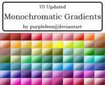 Monochromatic Gradients by purplefeen