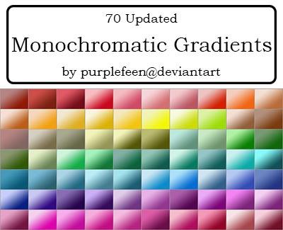 Monochromatic Gradients by purplefeen by purplefeen