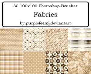 30 100x100 Fabric Brushes by purplefeen