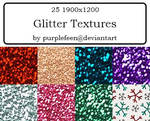 30 Large Glitter Textures by purplefeen