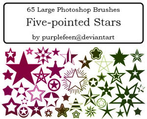 65 5-pointed Stars by purplefeen