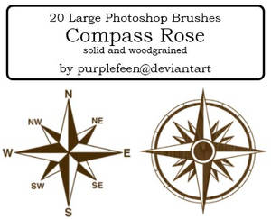 20 Compass Rose brushes by purplefeen