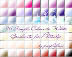 Simple colour-white gradients