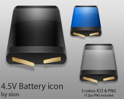 4.5V Battery Icon by xionz