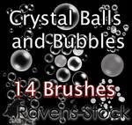 Spheres and Bubbles Brushes