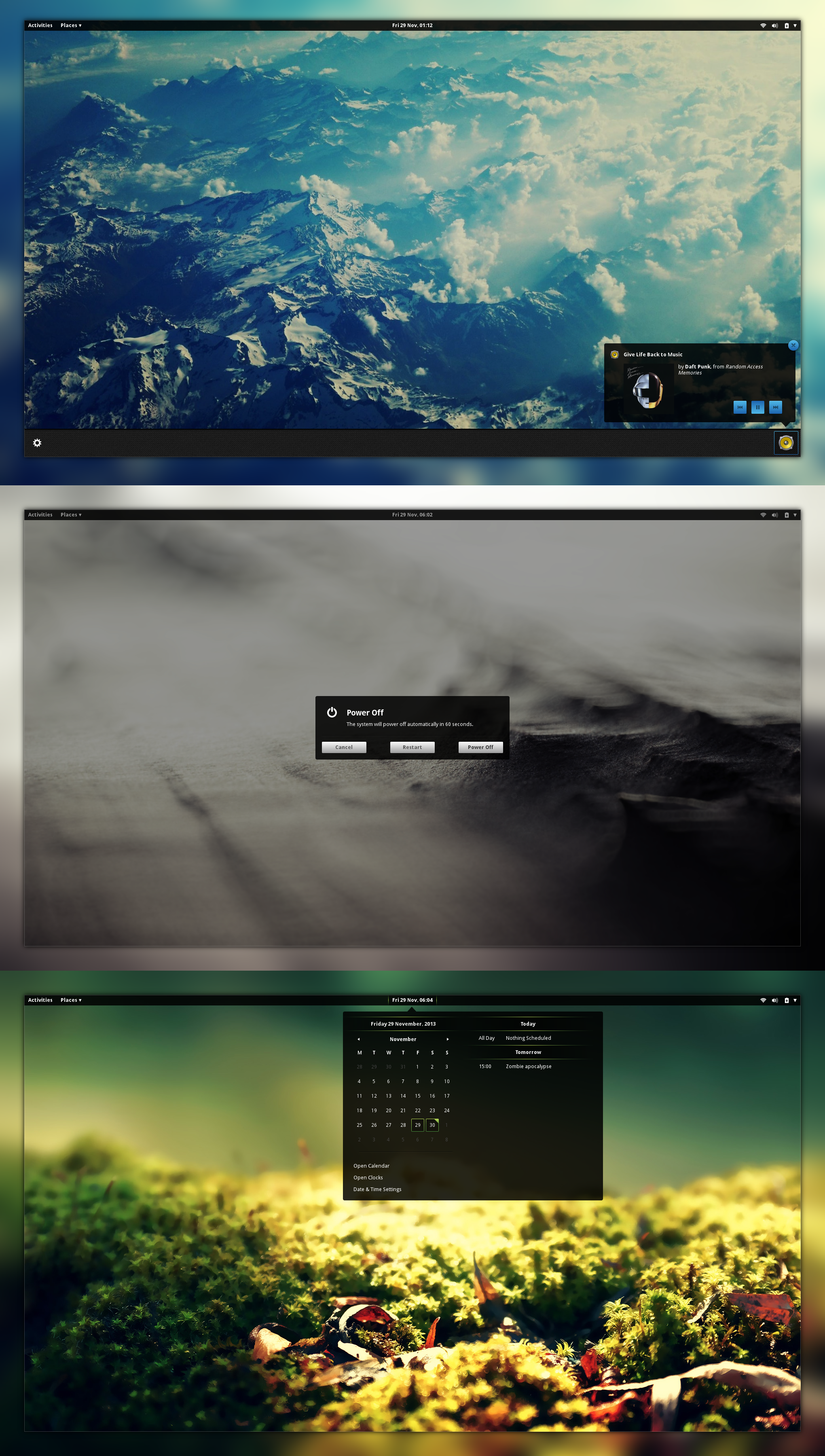 Tyr (gnome-shell 3.10 theme) by bimsebasse