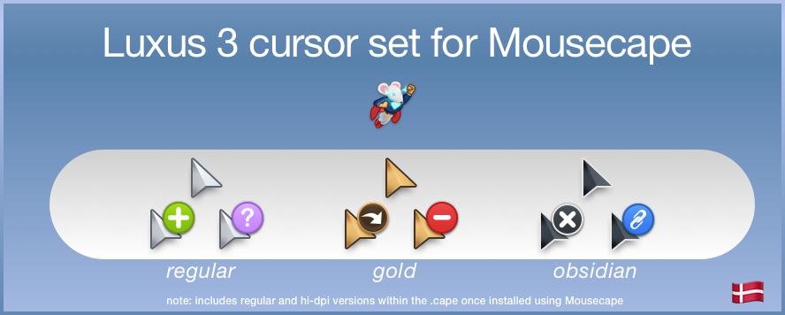 Luxus3 Mousecape - updated hotspot