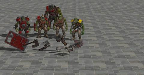 Warhammer 40k Space Marine Ork pack Xnalara  Xps
