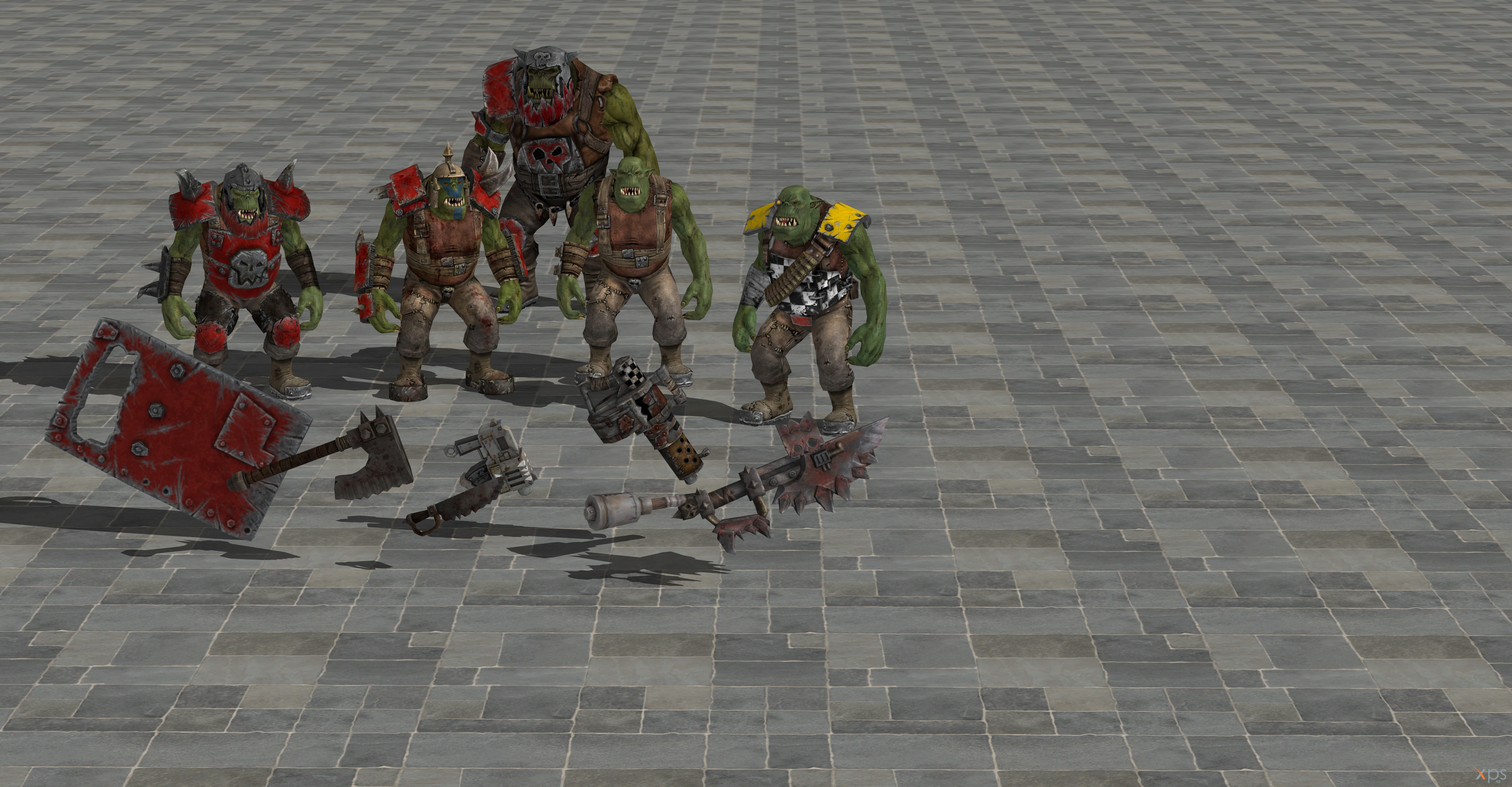 Warhammer 40k Space Marine Ork pack Xnalara  Xps by soulbrother73