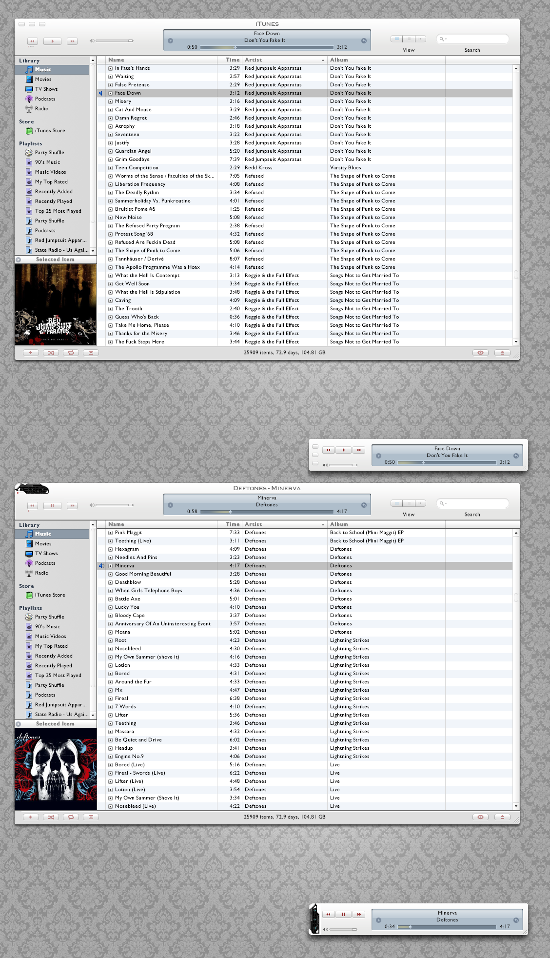 Amora and Mod for iTunes 7 by xizor227