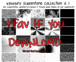 Screentone Collection v.1 by kyouyatsu