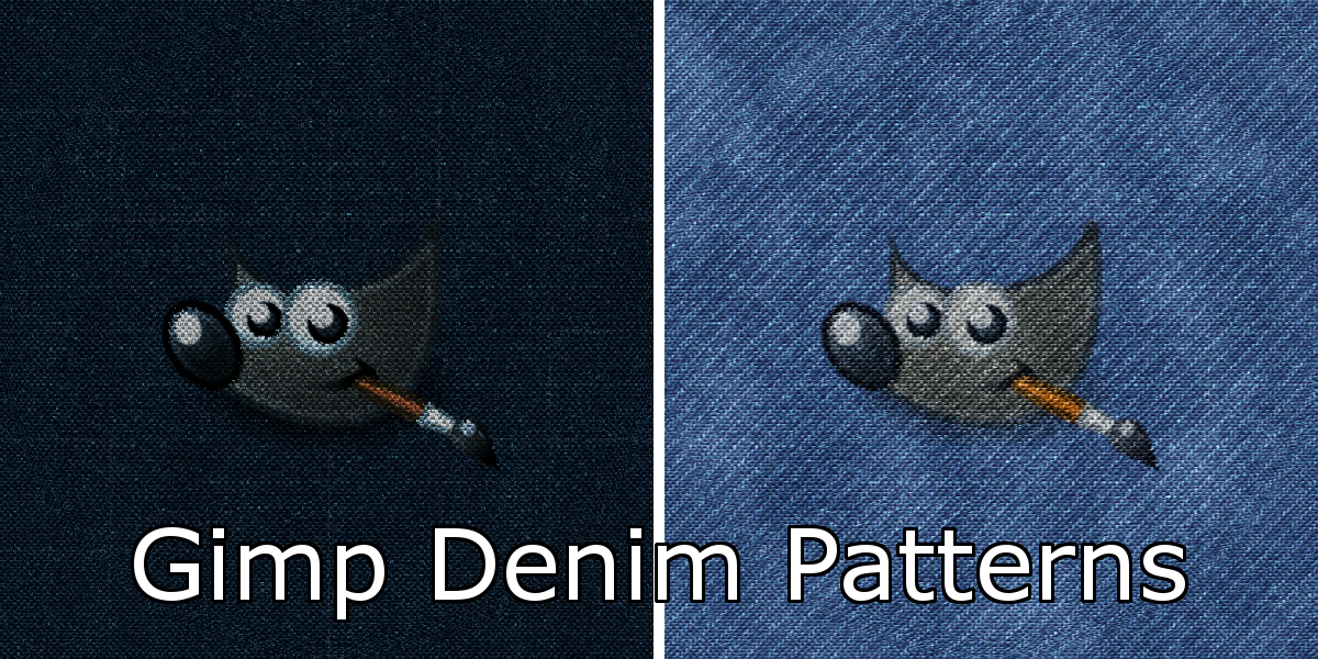 Gimp Denim Patterns by Davidwoodfx