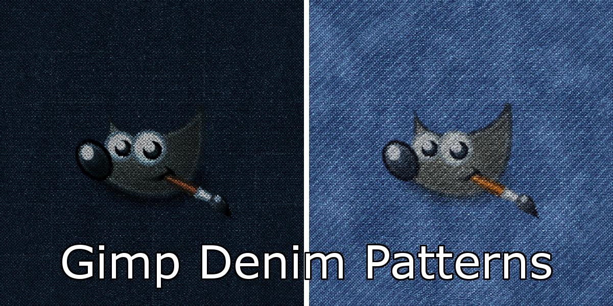 Gimp Denim Patterns by Davidwoodfx