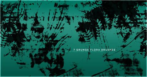 Grunge Flora Brushes by Elvynn