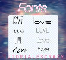 Pack de fonts by tutorialescrazy