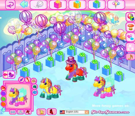 Pony World Dress Up Game