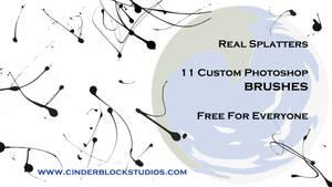 Real Splatters (Free Photoshop Brush Pack)
