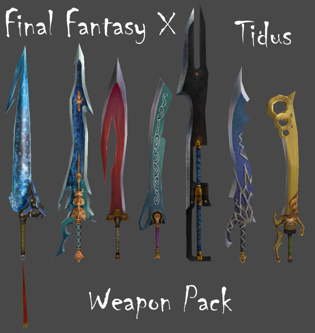 FFX Tidus Weapon Pack by Frozen-Knight on DeviantArt