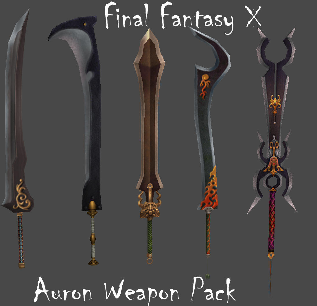 FFX Auron Weapon Pack by Frozen-Knight on DeviantArt