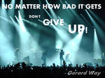 don't give up, gerard way quote. gif