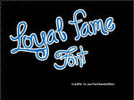 Font O4 Loyal Fame