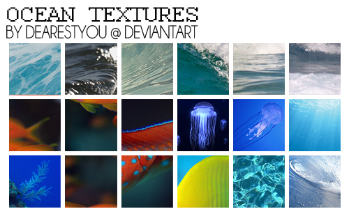 Ocean 100x100 Textures by dearestyou