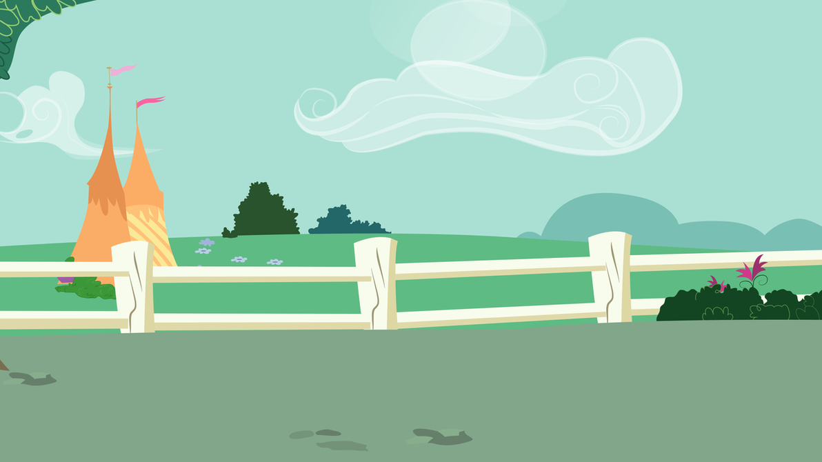 Ponyville Square Background by Evilbob0