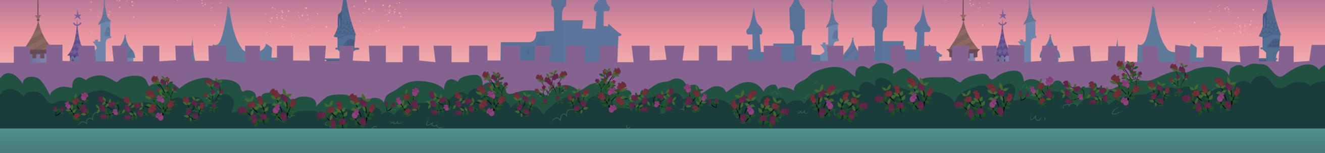 Canterlot Wedding Dance Gardens by Evilbob0