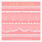 6 laces brushes