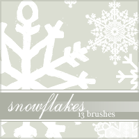 Snowflake Brushes by glendorakiley