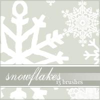 Snowflake Brushes by glendorakiley