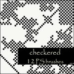 checkered brushes