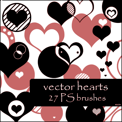 hearts vector brushes