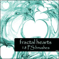 hearts fractal brushes by szuia