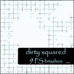 dirty squared brushes