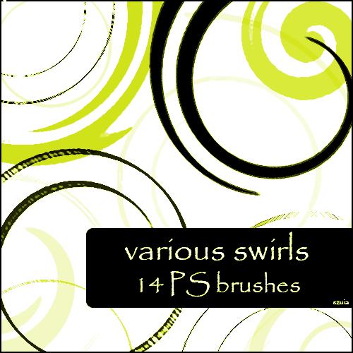 various swirls brushes
