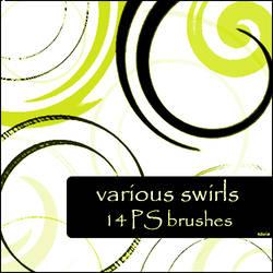 various swirls brushes by szuia