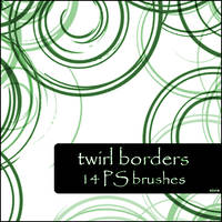 twirl borders brushes by szuia