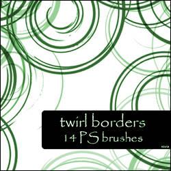 twirl borders brushes