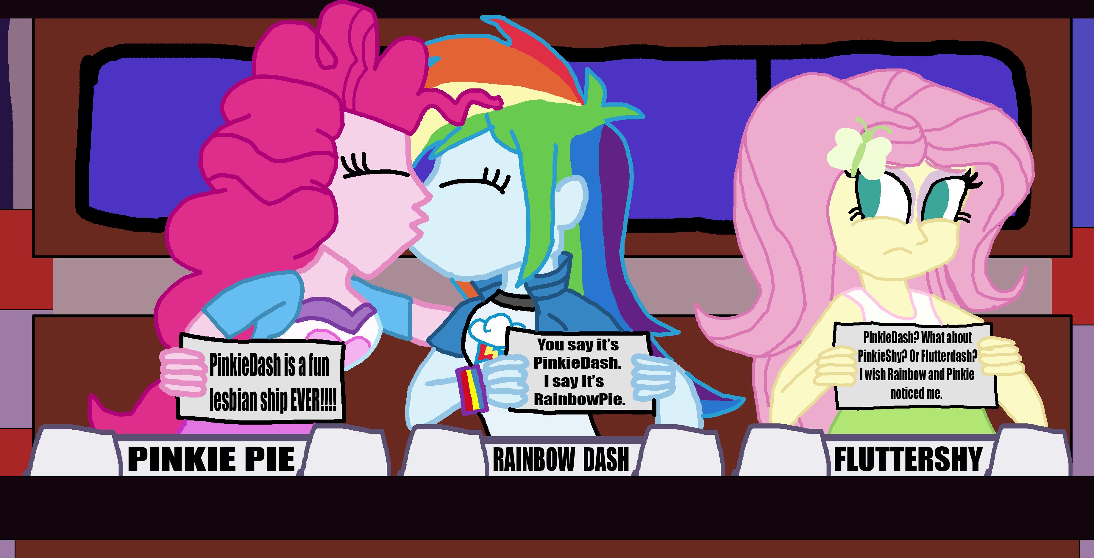 - Fluttershy, Pinkie Pie, Rainbow Dash On Match Game By KTd1993 On