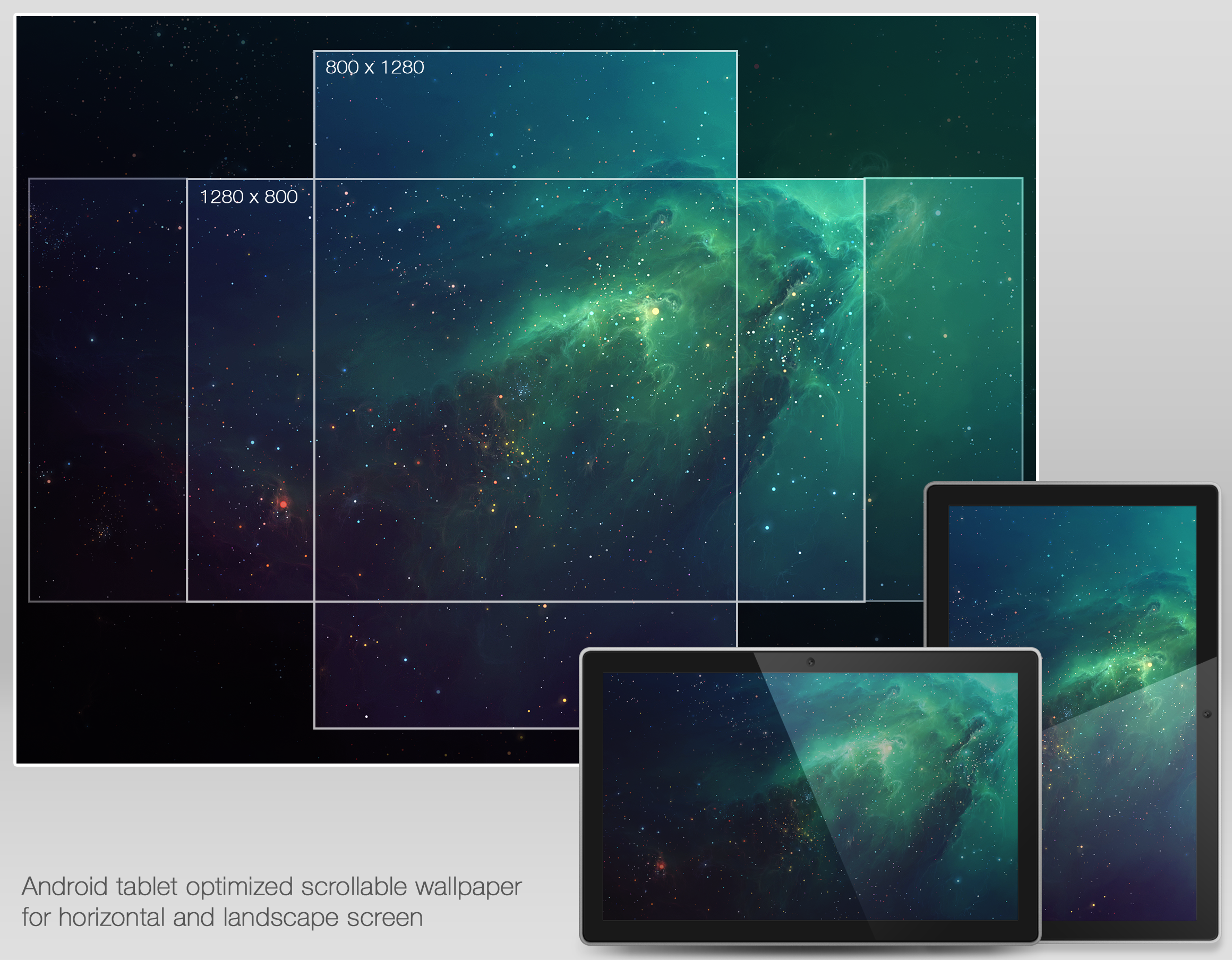 Nebula wallpaper for Android by olympmedia