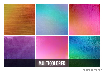 Multi-Colored Icon Textures by animepapers