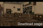 Happy Burger stage [MMD] [DL]