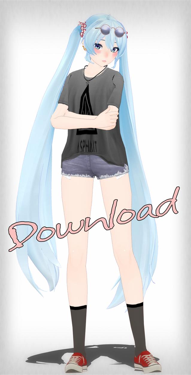 Miku Summer 2015 [MMD][DL] by Deiroko