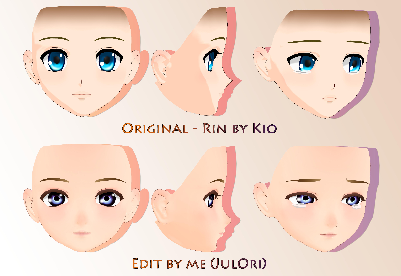 Face edit[MMD][DL] by Deiroko